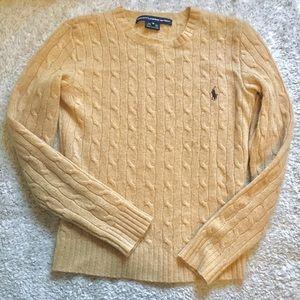Ralph Lauren Tan Knit Sweater XS